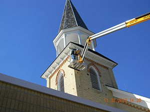 Repair of Entry Point on Church Steeple